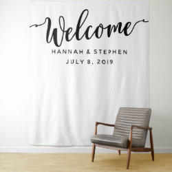 Welcome Wedding Photo Booth backdrop banner