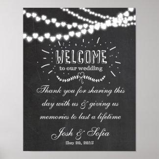 Welcome wedding thank you chalkboard sign