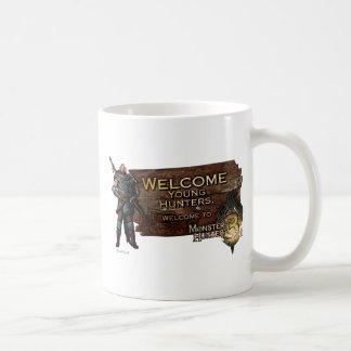 Welcome young hunters, to Monster Hunter Tri! Classic White Coffee Mug