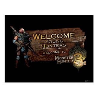 Welcome young hunters, to Monster Hunter Tri! Postcard