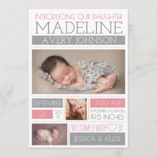 Welcomed Wonder Birth Announcements