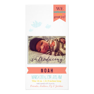 Welcomes with great joy!* Birth Announcement