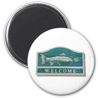 WelcomeSign042409shadows 2 Inch Round Magnet