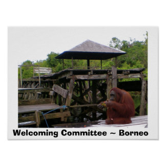 Welcoming Committee Borneo Travel Poster