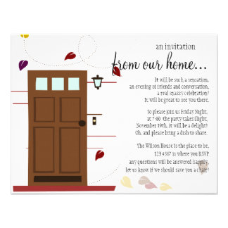 WElcoming Doors Custom Invitation
