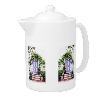 Welcoming Doorway in Purple Teapot