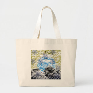 Welcoming fire tote bag