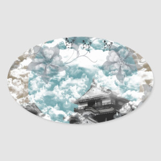 Welcoming fire oval sticker