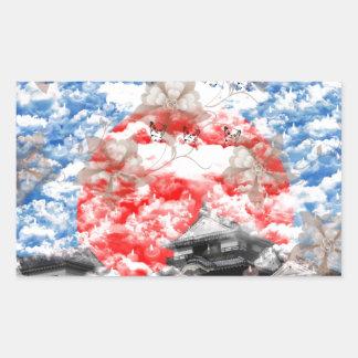 Welcoming fire rectangular sticker