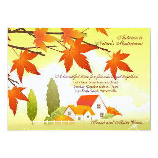 Welcoming Home Fall Invitation