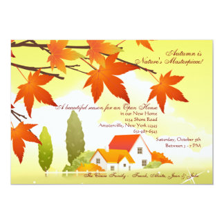 Welcoming Home Fall Open House Invitation
