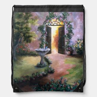 Welcoming Light Drawstring Bags