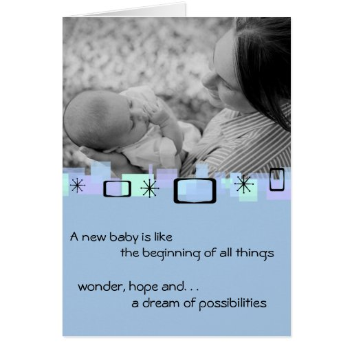 Welcoming New Baby Boy Greeting Card