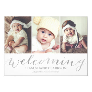 Welcoming Silver 3 Photo | Birth Announcement