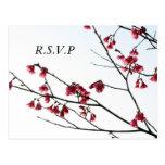 Welcoming Spring/ Oriental Zen Flora RSVP Post Cards