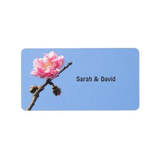 Welcoming Spring/Oriental Zen Wedding Favor Labels Custom Address Label