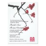 Welcoming Spring Sakura Oriental Zen Xi Wedding 5x7 Paper Invitation Card