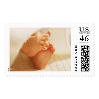 Welcoming The New Baby Announcement Postage Stamps