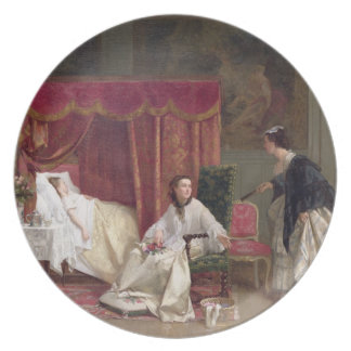 Welcoming the Visitor, 1867 (oil on canvas) Dinner Plate