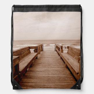 Welcoming View Drawstring Bag
