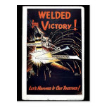 Welded For Victory Postcard