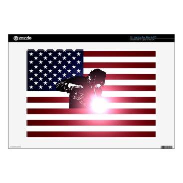 "Welder & American Flag 13"" Laptop Decal"