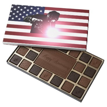 Welder & American Flag 45 Piece Box Of Chocolates