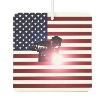 Welder & American Flag Air Freshener