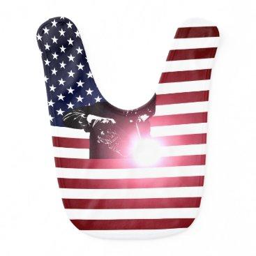 Welder & American Flag Baby Bib