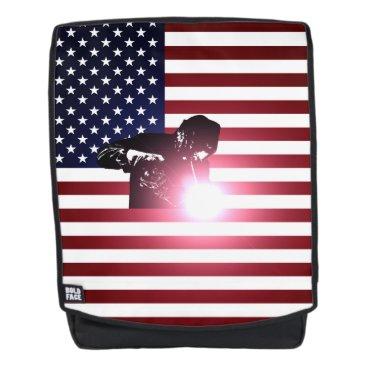 Welder & American Flag Backpack