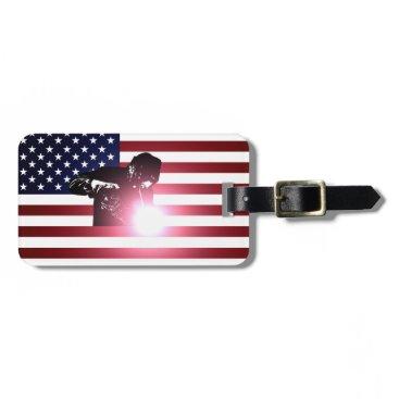 Welder & American Flag Bag Tag