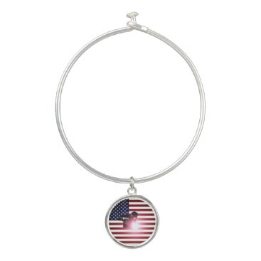 Welder & American Flag Bangle Bracelet