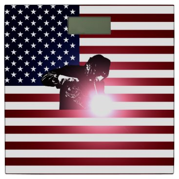 Welder & American Flag Bathroom Scale