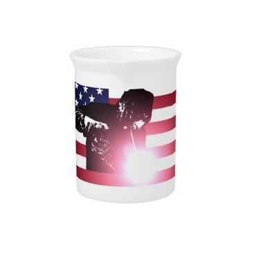 Welder & American Flag Beverage Pitcher