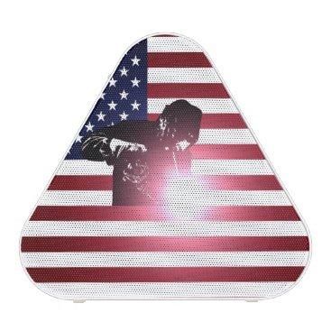 Welder & American Flag Bluetooth Speaker