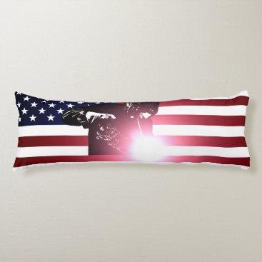 Welder & American Flag Body Pillow