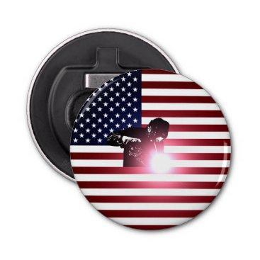 Welder & American Flag Bottle Opener