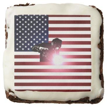 Welder & American Flag Brownie