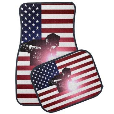 Welder & American Flag Car Floor Mat