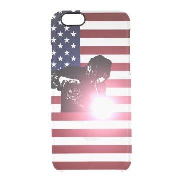Welder & American Flag Clear iPhone 6/6S Case