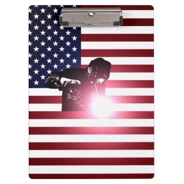 Welder & American Flag Clipboard