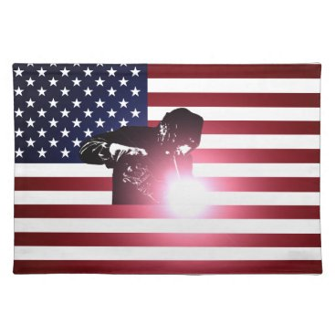 Welder & American Flag Cloth Placemat