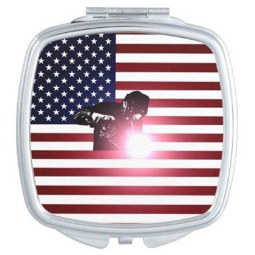 Welder & American Flag Compact Mirror