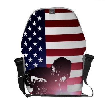 Welder & American Flag Courier Bag