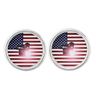 Welder & American Flag Cufflinks