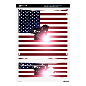 Welder & American Flag Decal For The Xbox 360 S