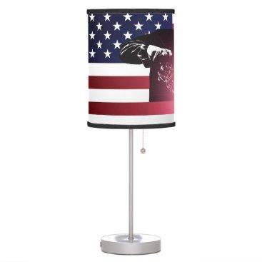 Welder & American Flag Desk Lamp