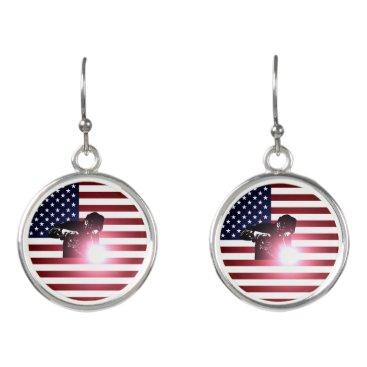 Welder & American Flag Earrings