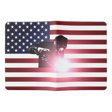 Welder & American Flag Extra Large Moleskine Notebook