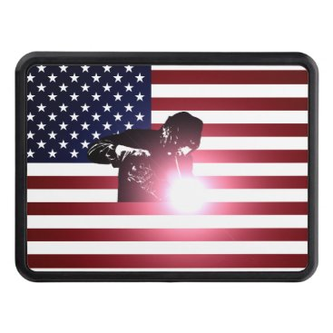 Welder & American Flag Hitch Cover